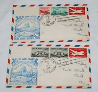 PAIR OF FIRST FLIGHT COVERS - NEW YORK BASRA IRAG TWA-F.A.M 127 - MARCH 2, 1948