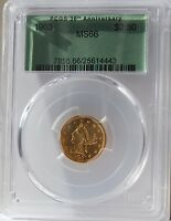1903 $2.5 GOLD LIBERTY HEAD PCGS MS66. MOST ATTRACTIVE WITH STRONG LUSTER.