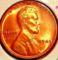 1949 LINCOLN WHEAT CENT..LUSTER BU RD..GEM SALE 35 OFF REDUCED 3/23 191
