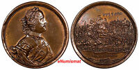 RUSSIA BRONZE MEDAL PETER I BATTLE OF POLTAVA 27 JULY 1709 BY S. YUDIN.D 27.16