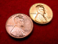1953 & 1953-D LINCOLN CENTS GEM BU RED CENTS FROM ORIGINAL ROLL  72
