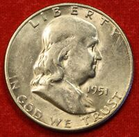 1951 S FRANKLIN  HALF DOLLAR AU BEAUTIFUL COIN CHECK OUT STORE FH126