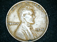 1936 LINCOLN WHEAT CENT DOUBLE DIE OBVERSE