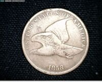 1858 SMALL LETTERS  FLYING EAGLE SMALL CENT PENNY 5323