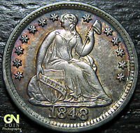 1848/7/6 BREEN 3044 MEDIUM DATE SEATED HALF DIME      MAKE US AN OFFER  G4206