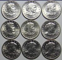 1979 1981 P D S S 1999 P D SUSAN B. ANTHONY DOLLAR SET 14 COINS