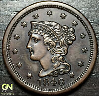 1846 BRAIDED HAIR LARGE CENT N20 R3     MAKE US AN OFFER  O2976