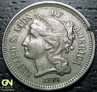 1868 3 CENT NICKEL PIECE      MAKE US AN OFFER  G2162