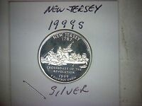 1999 S NEW JERSEY 90 SILVER PROOF STATE QUARTER