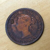 1881 CANADA 1 CENT COUNTERSTAMPED