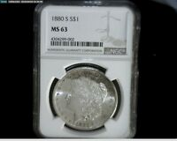 1880 S   MORGAN SILVER DOLLAR MS 63 NGC MORG9