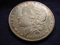 1883 S MORGAN DOLLAR INCREDIBLY TONED KEY DATE COIN WITH ORIGINAL LUSTER   140