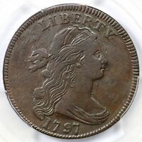 1797 S-137 R-2 PCGS VF 35 REV OF 1797 W/ STEMS DRAPED BUST LARGE CENT COIN 1C