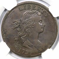 1797 S-140 NGC EXTRA FINE  45 DRAPED BUST LARGE CENT COIN 1C