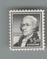 USA  1053  MNH  '' HAMILTON ''  5 DOLLARS  MOG NH..2 SCANS
