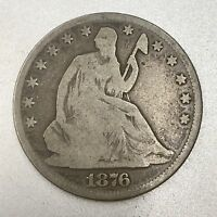 1876 U.S. SILVER SEATED HALF DOLLAR