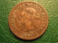 1876 H 1C CANADA CENT FULL SERIF T IN VICTORIA VARIETY