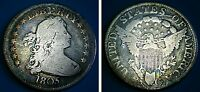 1805 DRAPED BUST QUARTER HISTORICAL US SILVER COIN