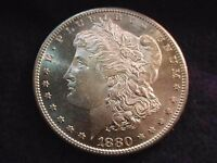 1880 S MORGAN DOLLAR EXTRAORDINARY GEM BU DEEP MIRROR PROOF LIKE  DOLLAR  78