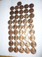 1971 S SAN FRANCISCO MINT CENT LINCOLN PENNY LOT OF 46 FROM OLD COLLECTION