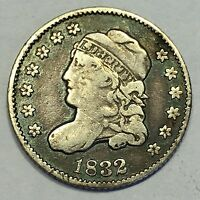 1832 CAPPED BUST SILVER HALF DIME NICE COIN