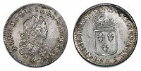 FRANCE LOUIS XV 1/3 ECU 1721 T NANTES.