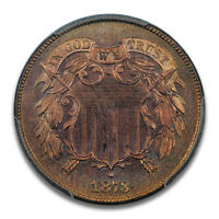 1873 2C CLOSED 3 TWO CENT PIECE PCGS PR65RD PQ