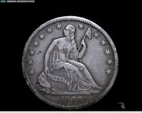 1868 S SILVER SEATED LIBERTY HALF DOLLAR  4191A