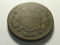 1870 TWO CENT PIECE GOOD BETTER DATE