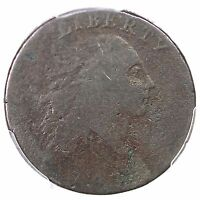 1793 S 1 R 4 PCGS G 04 AMERI. CHAIN LARGE CENT COIN 1C