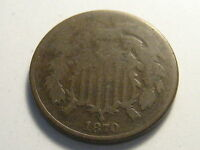 1870 TWO CENT PIECE BETTER DATE