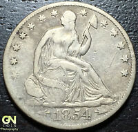 1854 O SEATED LIBERTY HALF DOLLAR      MAKE US AN OFFER  W3180 ZXCV