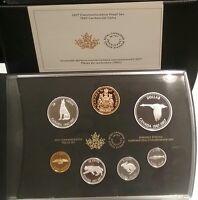 1967 2017 CANADA CENTENNIAL 7 COINS PURE SILVER PROOF SET: ALEX COLVILLE DESIGNS
