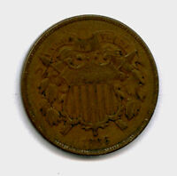 1866 2 CENT PIECE POST LINCOLN'S WAR COINAGE