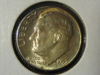 1953 TONED ROOSEVELT DIME 10C UNCIRCULATED