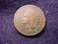 1865 INDIAN HEAD CENT  KEY DATE COIN   12
