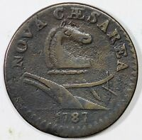 1787 M 43 D NEW JERSEY COLONIAL COPPER COIN