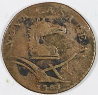 1787 53 J R 3 NEW JERSEY COLONIAL COPPER COIN