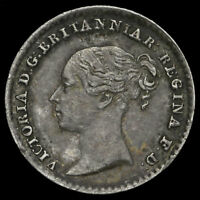 1846 QUEEN VICTORIA YOUNG HEAD SILVER MAUNDY PENNY