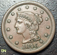 1846 BRAIDED HAIR LARGE CENT     MAKE US AN OFFER  Y8193