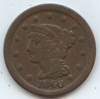 1846 SM. DATE LARGE CENT 7870 VF. SOME RIM ISSUES. CAREFULLY CHECK