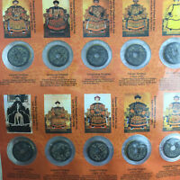 TEN EMPERORS COINS CHINESE COPPER COIN COLLECT 10PC OLD DYNASTY ANTIQUE CURRENCY