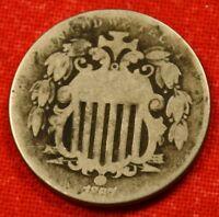 1867 SHIELD NICKEL  OLDER COIN CHECK OUT STORE SN44