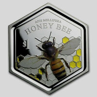 NEW ZEALAND   2016   1 OZ SILVER PROOF COIN  HONEY BEE COIN