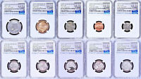2017 US MINT 225TH ANNIVERSARY ENHANCED UNCIRCULATED 10 COIN SET NGC SP70 ER