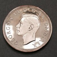 1937 GREAT BRITAIN ONE CROWN CAMEO PROOF GEORGE VI   SALE PRICED