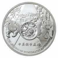 2016 CHINA 1 OZ PROOF SILVER PANDA ANAHEIM 125TH ANNIVERSARY ANA SHOW IN OGP
