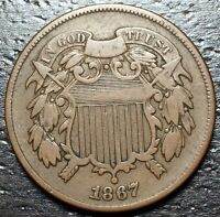 1867 2 CENT PIECE  --  MAKE US AN OFFER  Y8590