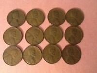 LINCOLN WHEAT CENT PENNIES - 1930S - 12 COIN LOT 3