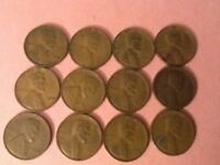 LINCOLN WHEAT CENT PENNIES - 1930S - 12 COIN LOT 2